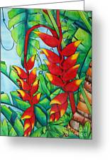 Heliconia Study Greeting Card