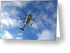 Helicopter Hover Greeting Card