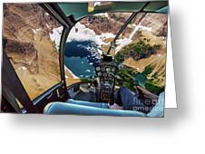 Helicopter On Glacier National Park Greeting Card