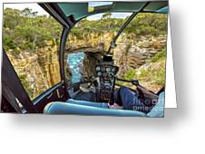 Helicopter On Tasman Arch Greeting Card