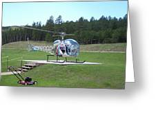 Helicopter Ride South Dakota Greeting Card