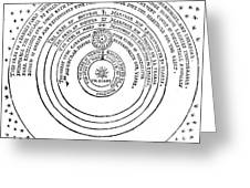 Heliocentric Universe, Thomas Digges Greeting Card