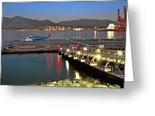 Heliport In The Vancouver's Port Greeting Card