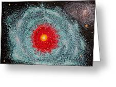Helix Nebula Greeting Card by Georgeta  Blanaru
