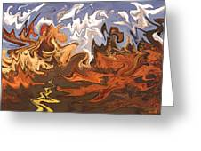Heavy Weather News - Abstract Modern Art Greeting Card