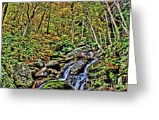Hellbrook Cascades In Autumn Greeting Card
