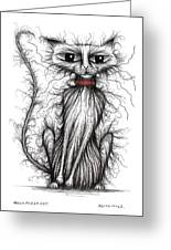 Hello Fuzzy Cat Greeting Card