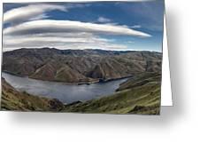 Hells Canyon Panoramic Greeting Card