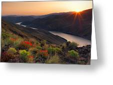 Hells Canyon Sunrise Greeting Card