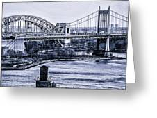 Hells Gate Bridge Triborough Bridge  Greeting Card