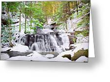 Hells Hollow Falls 1 Greeting Card