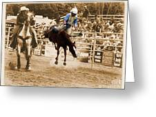 Helluva Rodeo-the Ride 5 Greeting Card