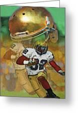 Helmet N Halfback Greeting Card