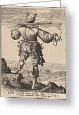 Helmeted Musketeer Greeting Card