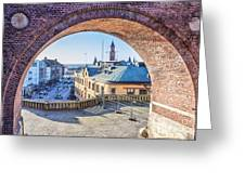 Helsingborg Through The Archway Greeting Card