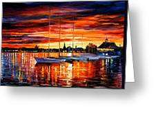 Helsinki - Sailboats At Yacht Club Greeting Card