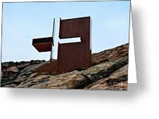 Helsinki Rock Church Cross Greeting Card