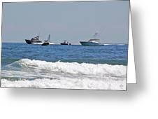 Helter Skelter At Sea Greeting Card