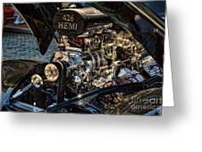 Hemi Engine Greeting Card