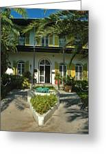 Hemingways House Key West Greeting Card