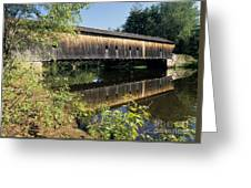Hemlock Covered Bridge - Fryeburg Maine Usa. Greeting Card