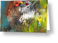 Hen Love Greeting Card