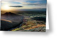 Hen Mountain From Spelga Greeting Card