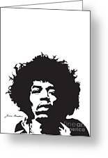 Hendrix No.01 Greeting Card by Caio Caldas