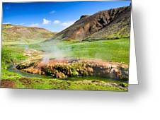 Hengill Geothermal Area Iceland Greeting Card