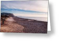 Hengistbury Head And Beach Greeting Card