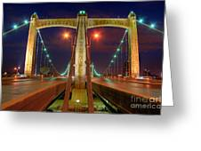 Hennepin Avenue Bridge Minneapolis Greeting Card