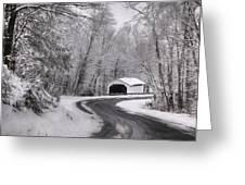 Henningers Farm Covered Bridge Greeting Card