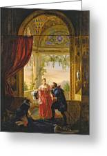 Henri Iv And His Mistress Greeting Card