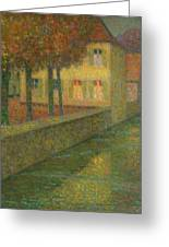 Henri Le Sidaner 1862 - 1939 Home Channel Greeting Card