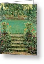 Henri Le Sidaner 1862 - 1939 Market Garden, Gerberoy Greeting Card