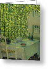 Henri Le Sidaner 1862 - 1939 The Village Table Gerberoy Greeting Card