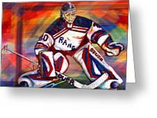 Henrik Lundqvist2 Greeting Card by Steve Benton