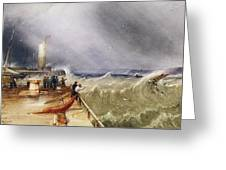 Henry Barlow Carter 1795-1867 Loss Of The Scarborough Lifeboat 24 May 1836 Greeting Card