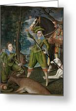 Henry Frederick 15941612 Prince Of Wales With Sir John Harington 15921614 In The Hunting Field Greeting Card