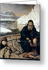 Henry Hudson And Son Greeting Card