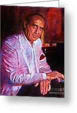 Henry Mancini Greeting Card by David Lloyd Glover