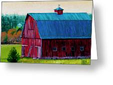 Henry Strong Barn Circa 1928 Greeting Card by Stacey Neumiller
