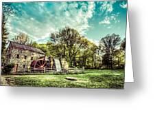 Henry Wadsworth Longfellow's Wayside Inn Gristmill, Sudbury, Massachusetts Greeting Card