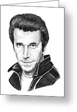 Henry Winkler The Fonz Greeting Card