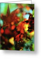Her Autumn Eyes Greeting Card