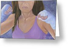 Her Fight Greeting Card by Karen Feiling