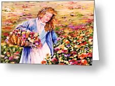 Her Irish Garden Greeting Card