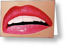 Her Lips Greeting Card by Michael McKenzie