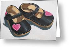 Her Little Shoes Greeting Card