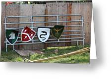 Heraldry Shields At Renfaire Greeting Card